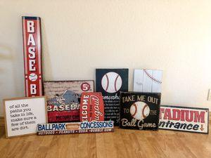Baseball Home Decor for Sale in Escalon, CA