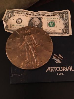 Large antique medal from Paris large for Sale in Santa Monica, CA