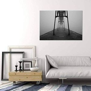((FREE SHIPPING)) a steel structured pier viewed from below - giclee print gallery wrap modern home decor Painting like print for Sale in San Francisco, CA
