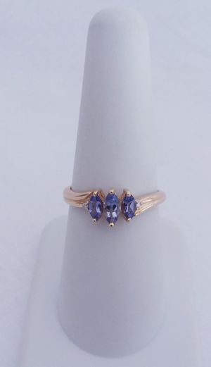 Tanzanite and diamond ring 10k yellow gold retail price $500 my price only $150! Local pickup or I SHIP through for Sale in Comstock Park, MI