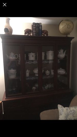 Wood china cabinet / hutch for Sale in East Providence, RI