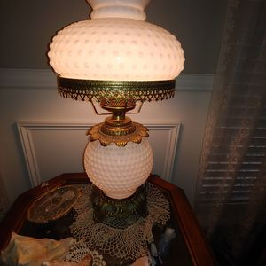 Vintage Milk Glass Hobnail Hurricane Lamp for Sale in Manassas, VA