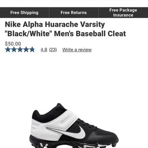 Nike Baseball cleats/ Size 9.5 for Sale in Oklahoma City, OK