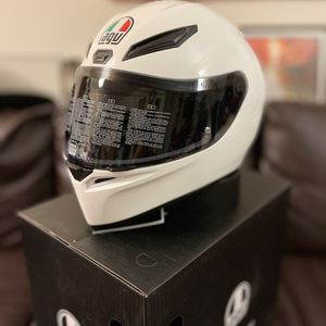 AGV K1 Gloss White Helmet & AGV Smoke Shield for Sale in South El Monte, CA