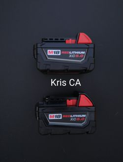 M18 Milwaukee 5.0 Batteries for Sale in City Of Industry, CA