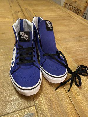 Cool blue Vans shoes Kids Sz 2.5 for Sale in San Jose, CA