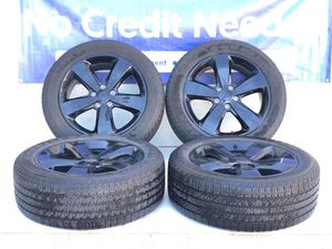 """20"""" Jeep Grand Cherokee OEM BLACK wheels rims tires 9137 Package deal 1199.00 only for Sale in Macomb, MI"""