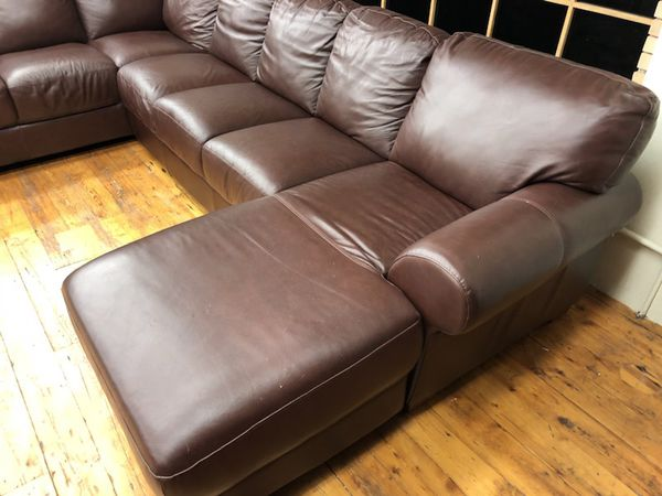 Chateau Dax Furniture Reviews: Divani Chateau D'Ax Top Grain Italian Leather Sectional