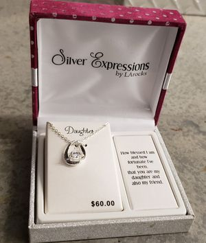 Silver Expressions Daughter Necklace for Sale in Alexandria, VA