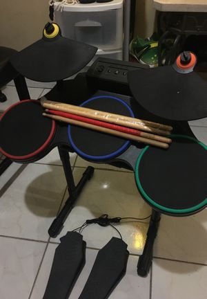 Guitar hero world tour drum kit new sticks 2 pedals ps3 for Sale in Hialeah, FL