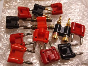 Dual Banana plugs posts Clips audio PA DJ Amp Amplifier Sound speakers system equipment plugs for Sale in Santa Fe Springs, CA