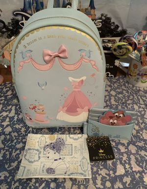 Disney loungefly Cinderella LOT 3 pcs for Sale in El Paso, TX