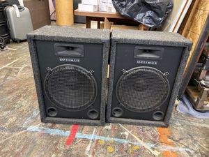 Optimus 8 ohms 300 watts max power speakers GREAY CONDITION for Sale in La Mirada, CA