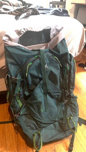 65L coyote backpack for hiking or backpacking travel for Sale in Chicago, IL