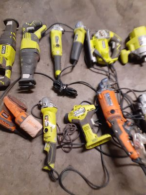 Power tools for parts only make me an offer (not working ) only for parts for Sale in Victorville, CA