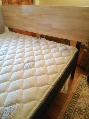 Full mattress plus bed frame for Sale in Santa Fe, NM