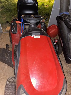 Craftsman rider mower with dump attachment and bags with huskavana lawnmower for Sale in Hudson, MA