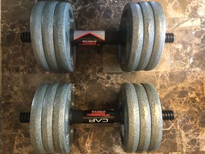 Two 30 lbs Adjustable Dumbbells for Sale in Bethesda, MD