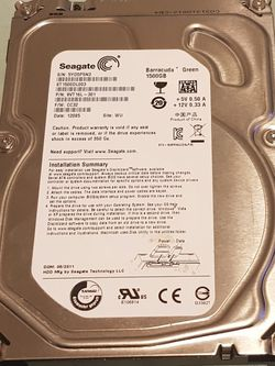 Seagate Barracuda Green 1.5TB 5900 RPM SATA-6GBPS 3.5inch Internal Hard Disk Drive for Sale in Renton,  WA