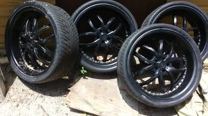 22s name Biggs 250 dollars obo dodge rims truck rims 6 lugs BMW rims 19,5 inch for Sale in Tallahassee, FL
