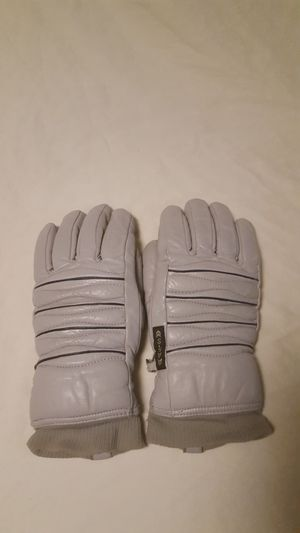 Vintage ARIS women's leather ski gloves size small gray with blue stripes for Sale in Everett, WA