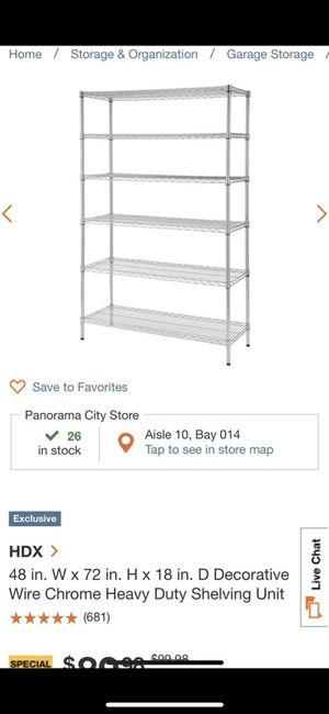 Metal shelving unit for Sale in Los Angeles, CA