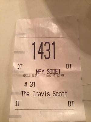 Travis Scott Burger receipt for Sale in Moreno Valley, CA