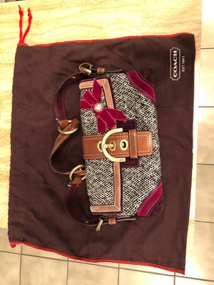 Authentic Coach Purse w/Velvet & Rhinestone Bow for Sale in Brooklyn, NY