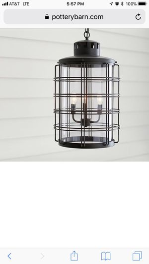 Pottery barn nautical chandelier brand new in box for Sale in Key Biscayne, FL