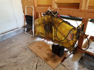 "317 John Deere Garden Tractor. Good condition low hours. 3 attachment. 48"" lawn mower deck. Rototiller blade. 60"" snowblower blade. All hydraulic for Sale in Plainfield, IL"