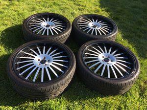 24 INCH ASANTI 3pc rims and new Toyo tires,5x120 for Sale in Auburn, WA