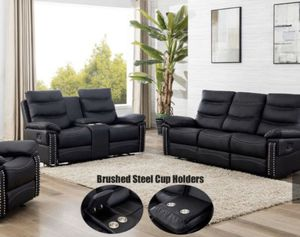 Brand New recliner set (Sofa + Love Seat + Recliner) ONLY $54 DOWN for Sale in Dallas, TX