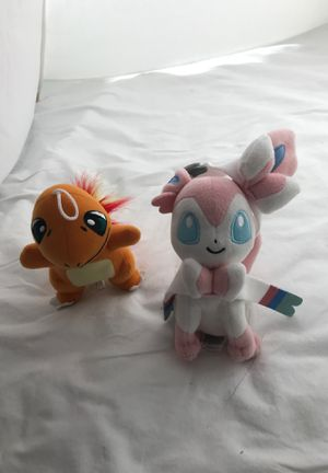 Pokémon Stuffed Animals from a clean, smoke free home. for Sale in Boca Raton, FL