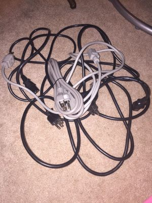 5 computer tower power cords for Sale in Tacoma, WA