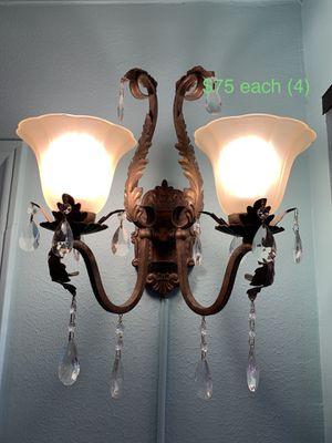 Chandelier scone lights (4) for Sale in Houston, TX