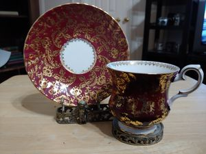 Antique Teacup and Saucer Fine Bone China with Ornate Stand for Sale in Marietta, GA