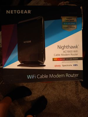 Wifi cable modem router for Sale in Modesto, CA