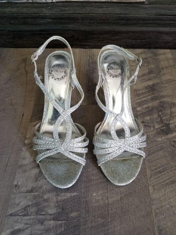 Silver, Rhinestone Dress/Formal Shoes