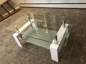 """Brand new in box"" White coffee table for Sale in Clifton, NJ"