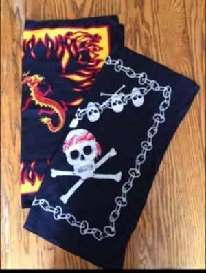 Two full size Bandanas for Sale in Milnesville, PA