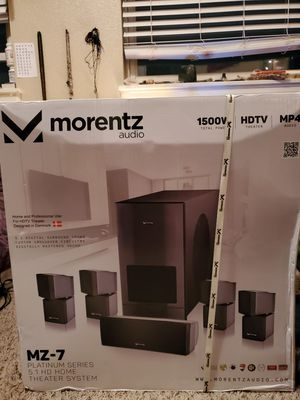 Mornetz MZ-7 Platinum Series 5.1 HD Home Theater System for Sale in Denver, CO