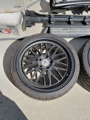 """5x100 or 5x114 ??? 20"""" wheels with tires for Sale in San Diego, CA"""
