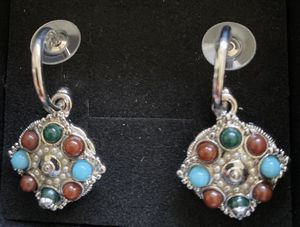 Antique fashion silver earrings studs for Sale in Fremont, CA