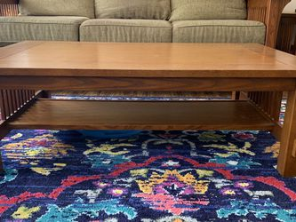 Bassett Couch, Wood End Table And Matching Coffee Table Set Make Offer for Sale in Westlake,  OH