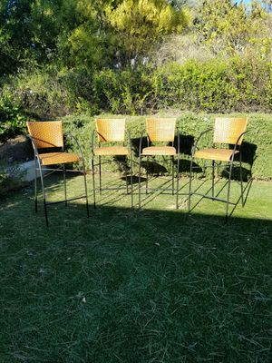 Four (4) bar or counter height stools / chairs perfect for your countertop breakfast table/ bar for Sale in Carlsbad, CA