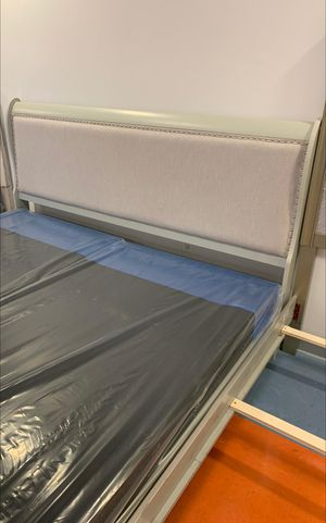 Brand New Jorstad Gray Sleigh King Size Bed Frame. ASHLEY for Sale in Jessup, MD