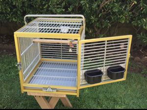 Parrot bird king's travel cage - all aluminum for Sale in Queens, NY