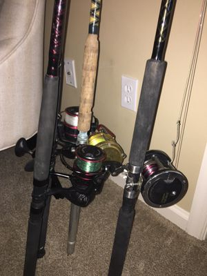 Saltwater fishing poles for Sale in Delray Beach, FL