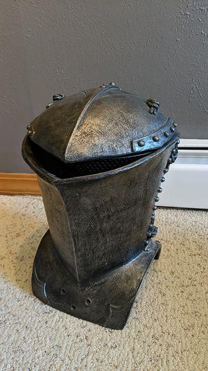 Medieval helmet shaped trashcan for Sale in Littleton, CO