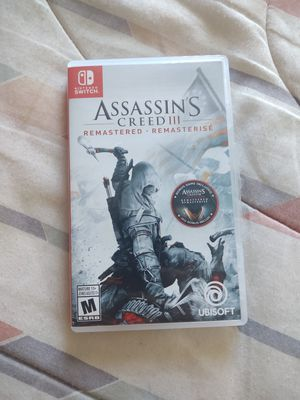 Nintendo switch assassin's Creed 3 remastered game for Sale in Tempe, AZ